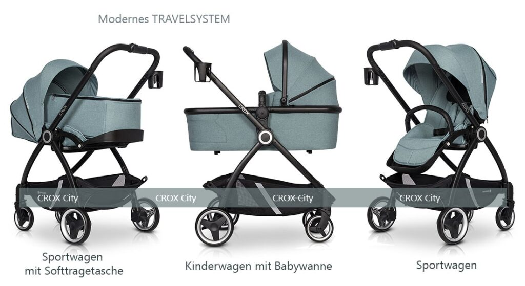 Travelsystem Crox City Kinderwagen