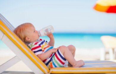 Kind im Sommerurlaub