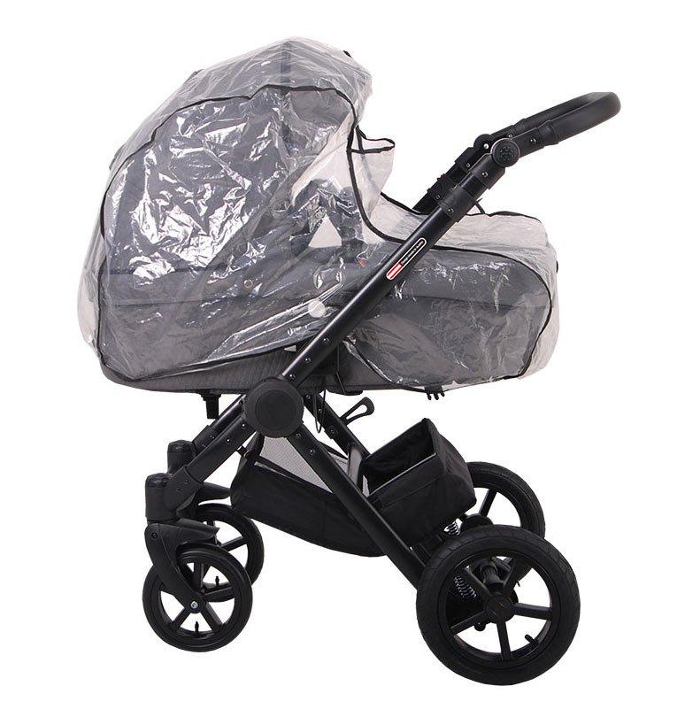 Kinderwagen mit Regenschutz