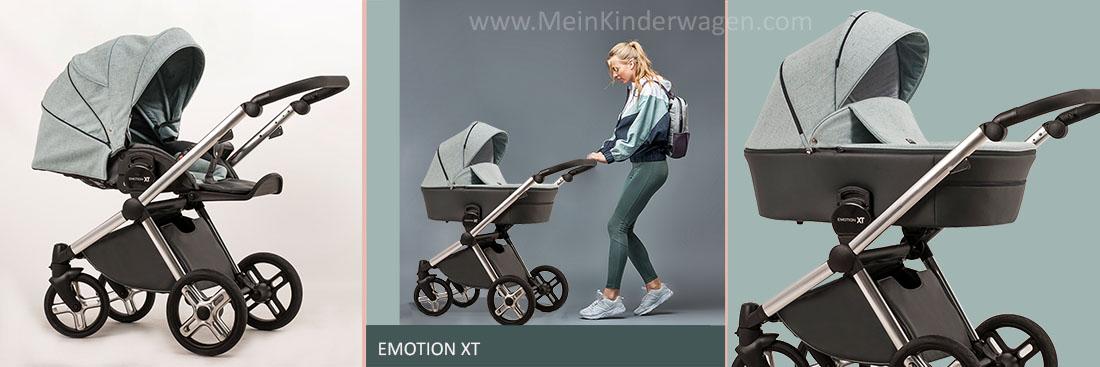 Emotion XT Kinderwagen mit Babywanne und Sportsitz