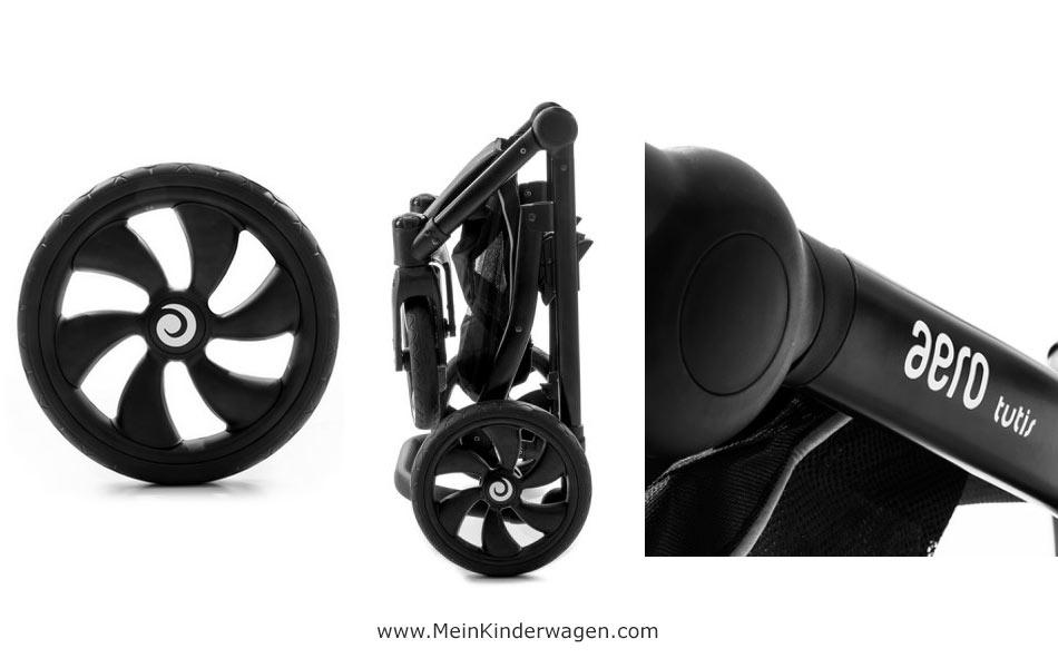 Gestell Aero Tutis mit großen pannensicheren Reifen