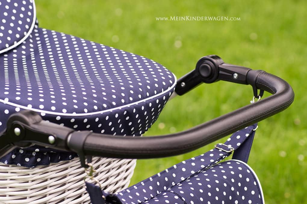 Kinderwagen Griff aus robustem Eco Leder, höhenverstellbar