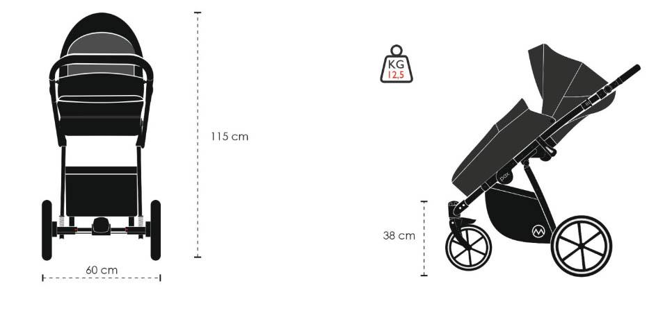 M Pax Kinderwagen Masse