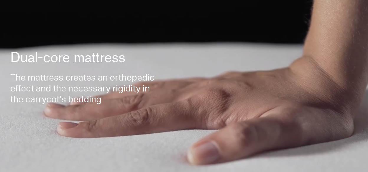 <strong>Für einen angenehmen Schlaf: </strong>OrthopädischeDual-Kern Matratze