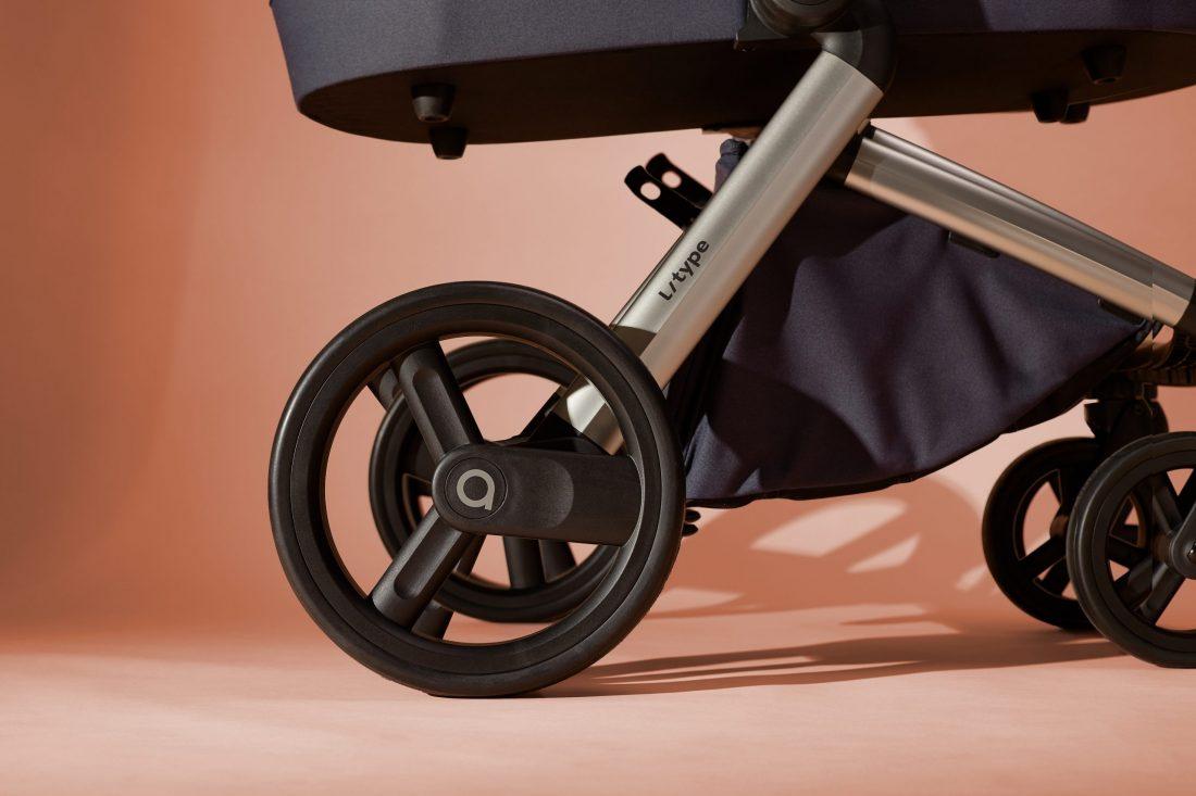 Anex l/type Gestell mit pannensicheren Reifen und verlängerbarem Einkaufskorb