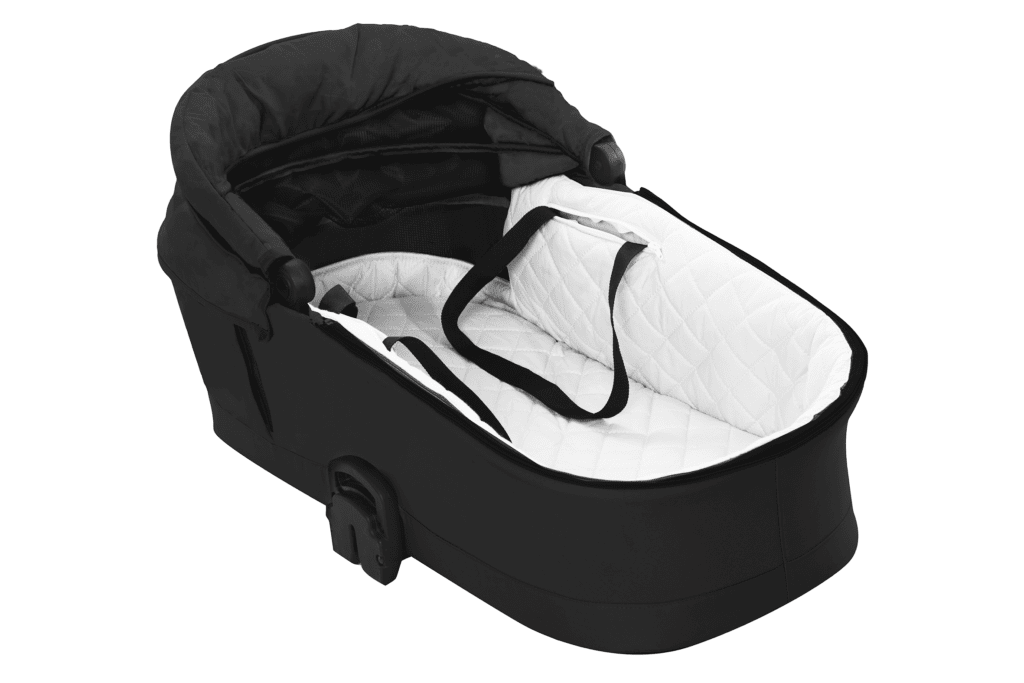 Kinderwagen MUSSE: Große Liegefläche mit angenehmer Innenauskleidung und Kokosfasermatratze für bestmöglichen Komfort unterwegs