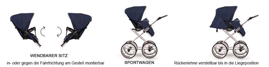 funktionen retro prestige sportsitz