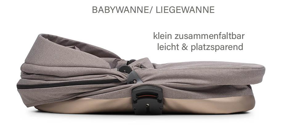 Noordi SOLE GO Kinderwagen. Babywanne / Liegewanne, klein zusammenfaltbar leichT