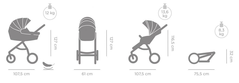 Aero Tutis Kinderwagen Technische Daten