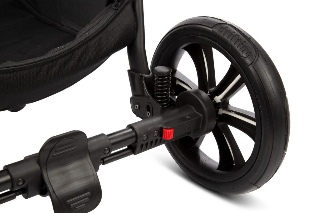 Kinderwagen Federung, große Reifen