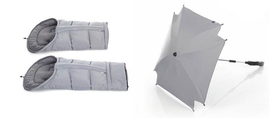 Fußssack mit Verlängerung | Sonnenschirm mit UV-Schutz
