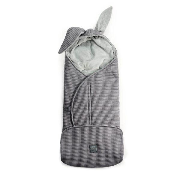 Einschlagdecke Floo Fußsack Schlafsack grau