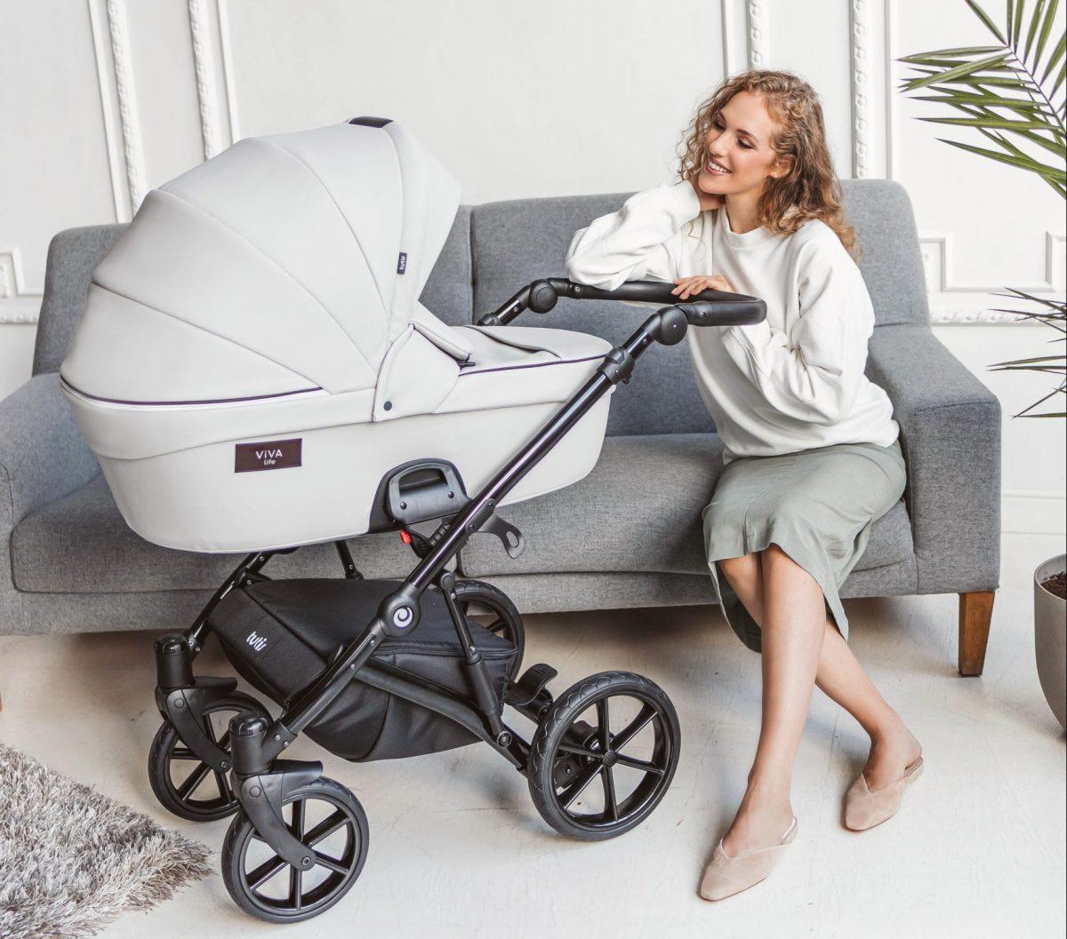 Viva Life Tutis Kinderwagen in Eco Leder