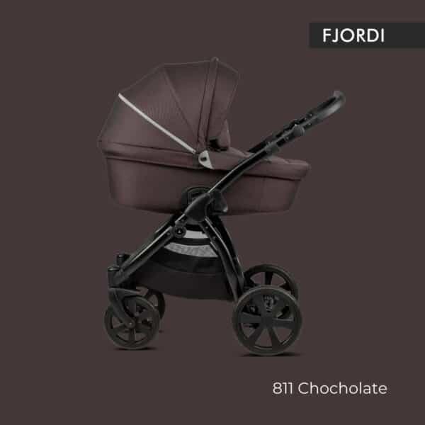 Noordi FJORDI Kinderwagen stoff dunkelbraun, chocolate