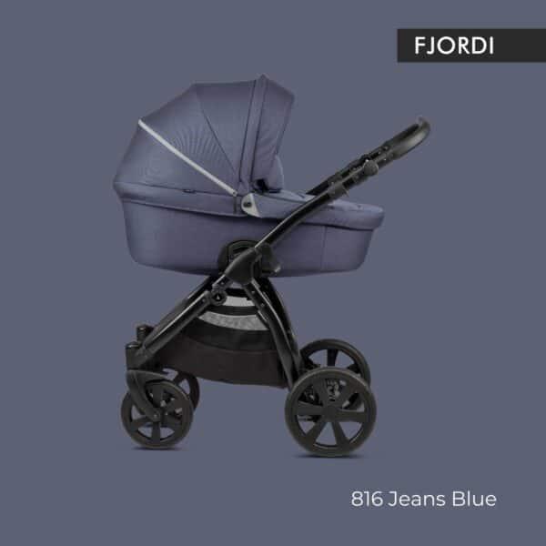 Noordi FJORDI Kinderwagen stoff jeans blue, blau