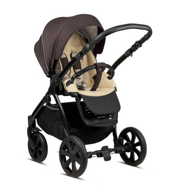 Noordi Fjordi Kinderwagen mit buggy Sportwagen mit stoff braun