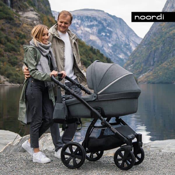Noordi Frjordi Kinderwagen Kombikinderwagen, terrain, große Reifen Federung, für jeden Untergrund